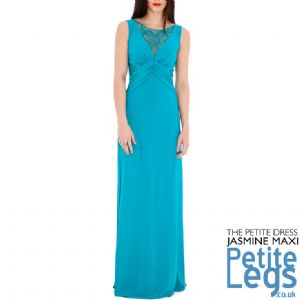 Jasmine Maxi Dress in Turquoise with Openwork Crochet Lace and Sequin Detail | UK Sizes 8-14 | Petite Height Select 4ft7 - 5ft5